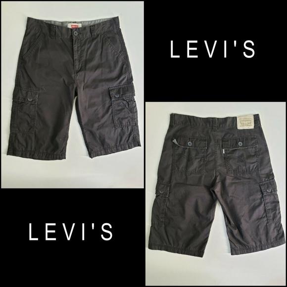 Levi's Other - Levi's Men Flat Front Cargo Short Size 18 Gray